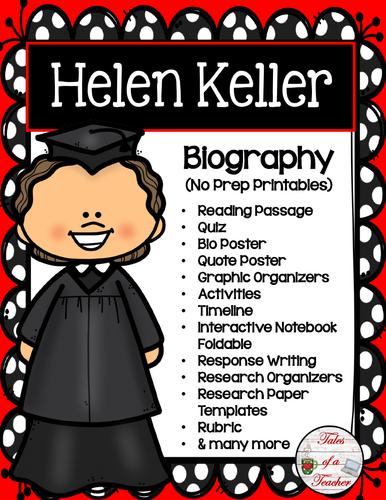 Helen Keller Biography By Talesofateacher  Teaching Resources  Tes