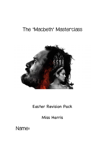 'Macbeth' Masterclass Revision Booklet