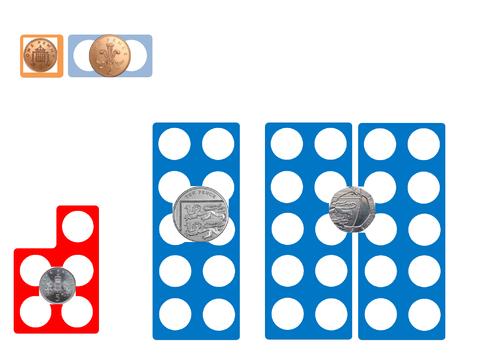 Numicon money shapes