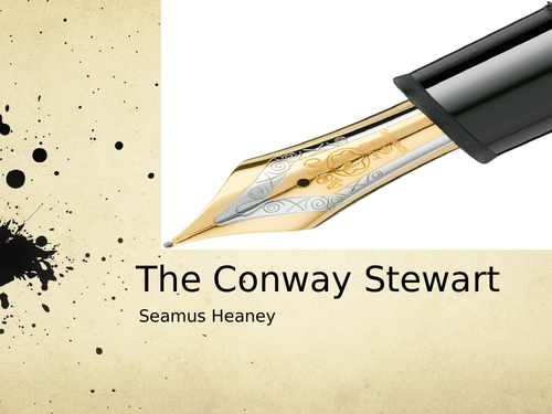 The Conway Stewart by Seamus Heaney- Poetry Analysis (CCEA A Level)