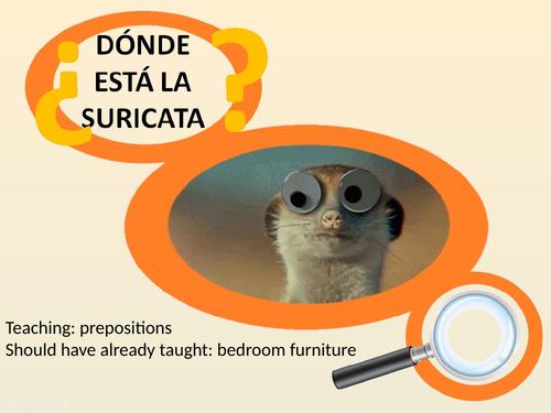 Spanish prepositions - meerkat madness