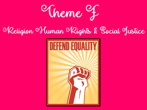 Paper 2: Theme F: Religion, Human Rights and Social Justice