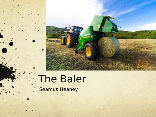 The Baler by Seamus Heaney- Poetry Analysis (CCEA A Level)