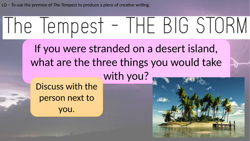 The Tempest Creative Writing