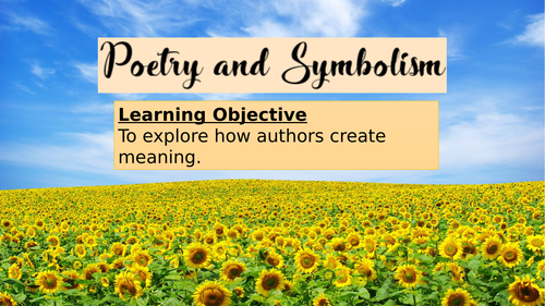 Poetry and Symbolism