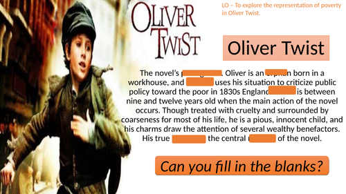 Poverty in Oliver Twist