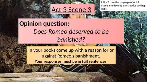 ROMEO AND JULIET - ACT 3 SCENE 3