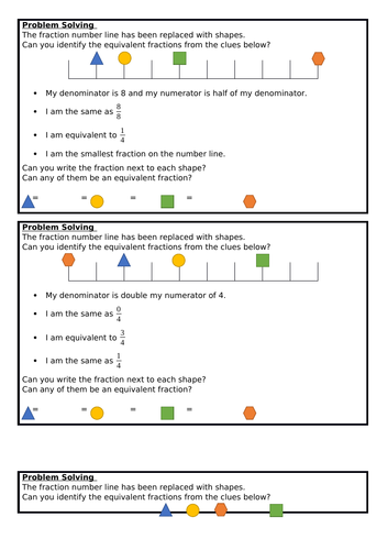 Equivalent Fractions (2), Summer Block 1, Year 3