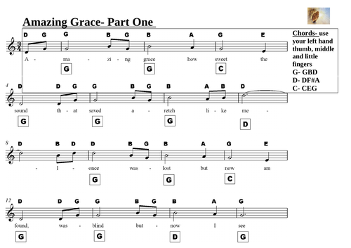 Amazing Grace For Solo Piano Or Piano Duet By Lueyq Teaching