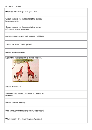 New GCSE 2016 Biology Paper 2 (Trilogy Science) Revision Questions