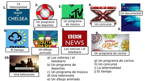 KS3 Spanish: TV Programmes & Opinions