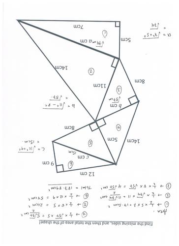 Pythagoras 39 Theorem Stack Up By Katylnewman Teaching