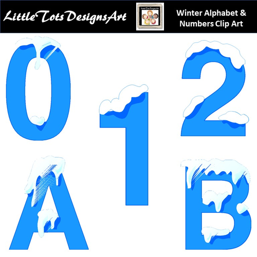 Alphabet and Numbers Clip Art - Winter Alphabet and Numbers Clip Art