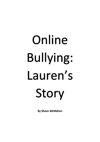 Online Bullying Script Laurens Story Sample Script By