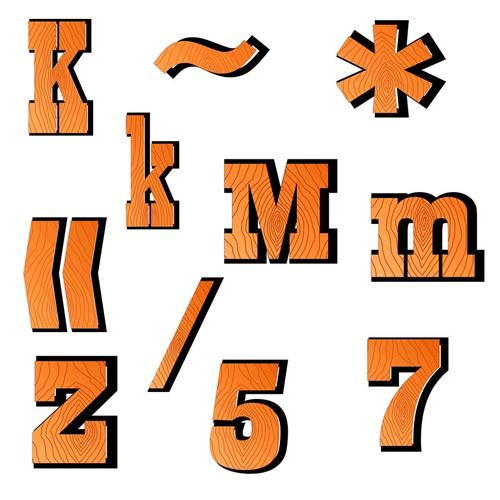 Alphabet and Numbers Clip Art - Western Alphabet and Numbers Clip Art