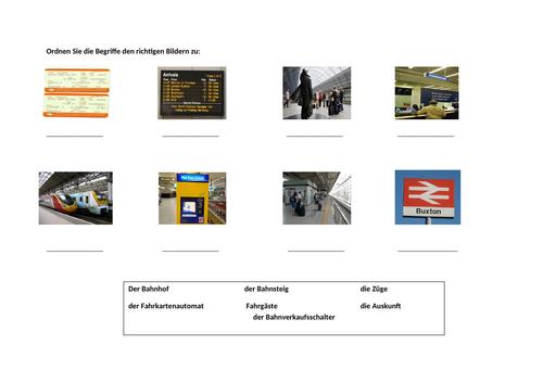 Am Bahnhof / At the train station / Transport / Travel