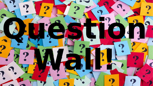 Question Wall Display Resources