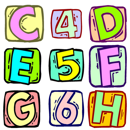 Alphabet And Numbers Clip Art Letter Blocks And Numbers Clip Art Teaching Resources