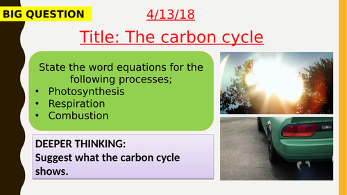AQA new specification-The carbon cycle-B17.3