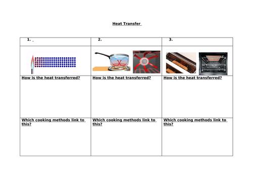 Food Science: Heat Transfer Worksheet