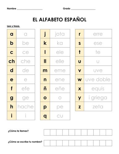 El alfabeto español - Resource Set