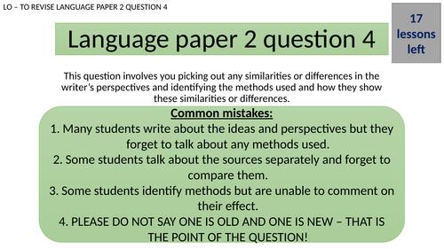LANGUAGE PAPER 2 QUESTION 4