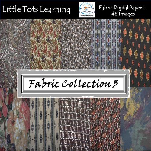 Fabric Digital Papers - Fabric Pattern - Commercial Use
