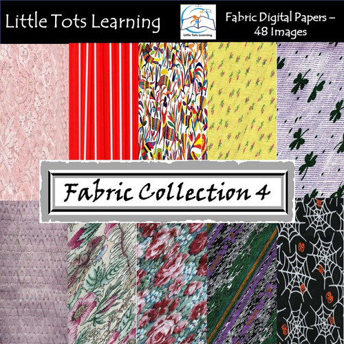 Fabric Digital Papers - Fabric Backgrounds - Commercial Use - Collection 4