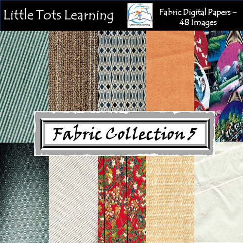 Fabric Digital Papers - Fabric Pattern - Commercial Use - Collection 5