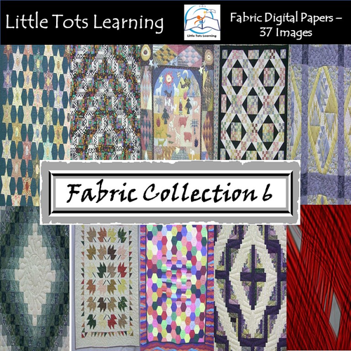 Fabric Digital Papers - Fabric Pattern- Commercial Use - Collection 6