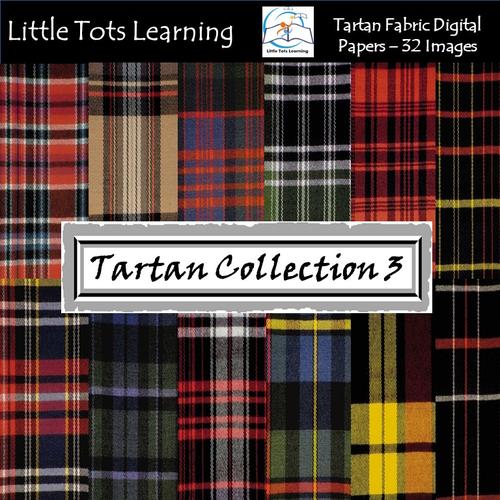 Tartan Plaid  Digital Papers - Tartan Backgrounds - Collection 3