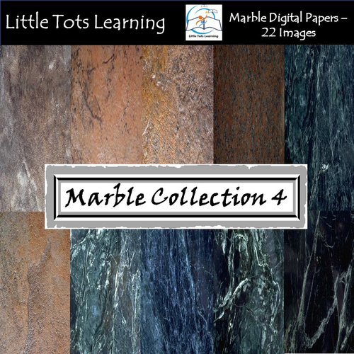 Marble Digital Papers 4 - Marble Backgrounds - Commercial Use