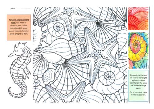 Blending colours fish themed work