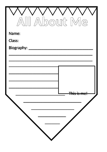 All About Me Classroom Bunting