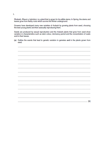 OCR A-level biology A  (6.4/6.2.1) Cloning and biotechnology Practical exam, and synoptic exam Qs