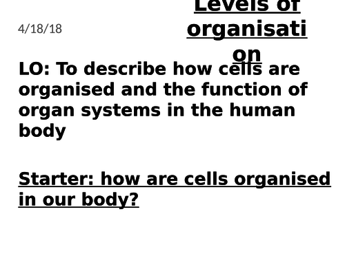 Cell organisation