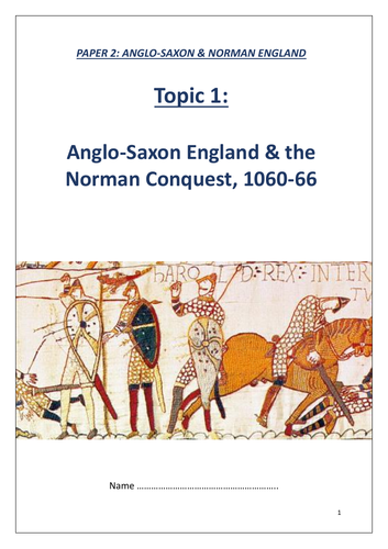 Edexcel GCSE 9-1 History: Anglo-Saxons and Normans revision workbook (lower ability)