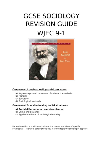 WJEC GCSE Sociology 9-1 Social Inequality Revision Guide