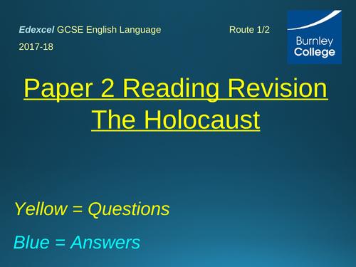 Edexcel Paper 2 GCSE English Reading Revision