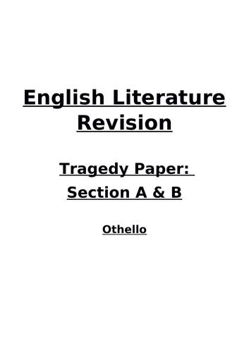 Othello Revision Booklet - AQA