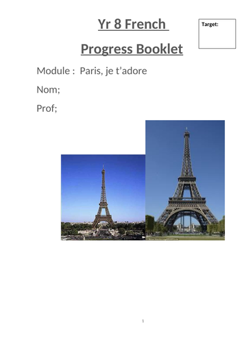 Studio 2 Module 2 Paris translation and writing skillls booklet