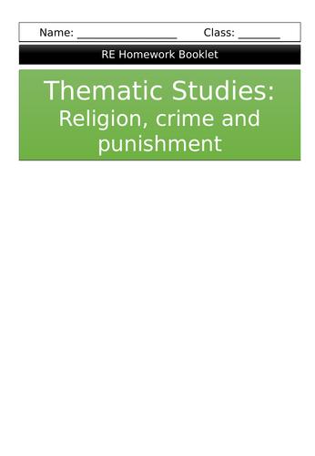 Thematic studies: Religion, crime and punishment homework booklet