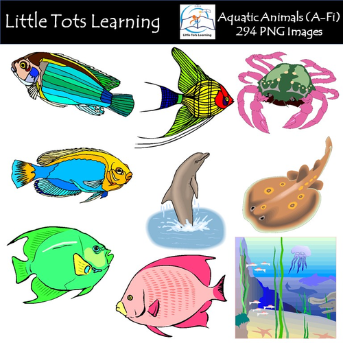 aquatic animals a fi clip art commercial use by