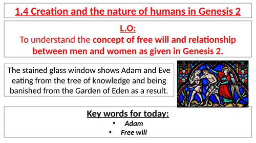 AQA B GCSE- 1.4 - Creation and the nature of humans in Genesis 2
