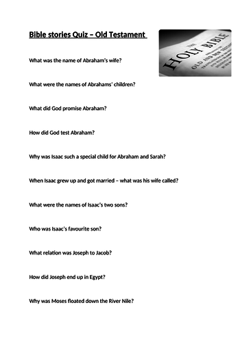 Old Testament Stories Quiz
