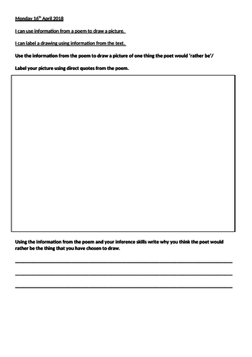 Poetry guided reading plan and resources