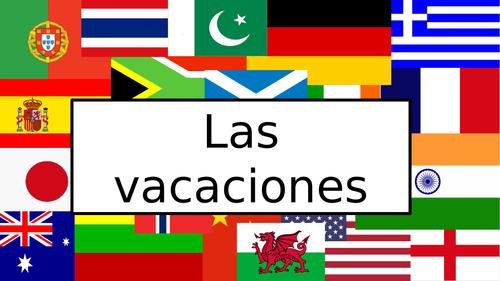 GCSE Spanish: Holidays