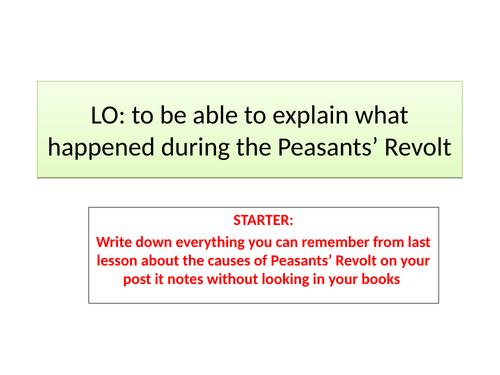Peasants revolt - events