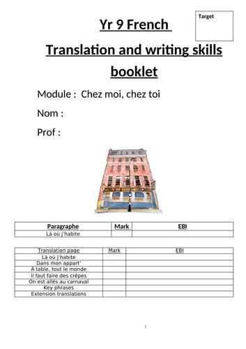 Chez moi, chez toi Studio 2 Module 4 skills booklet