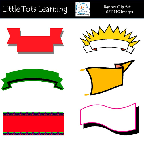 Banners Clip Art - Commercial Use